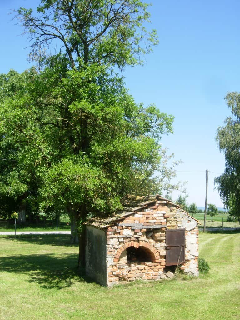 Our old brick oven in the gardens of our farmhouse
