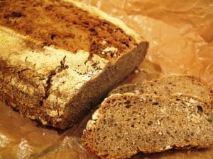 Pure rye bread - best sliced thinly