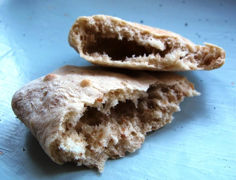 Pita Bread with a smaller pocket