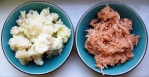 Mashed and Grated Potatoes