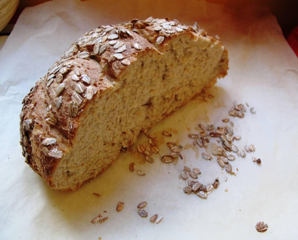 Picnic loaf freshly baked