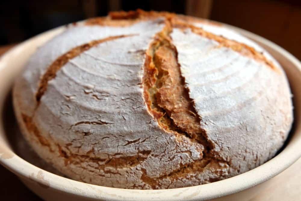 Gram flour sourdough loaf