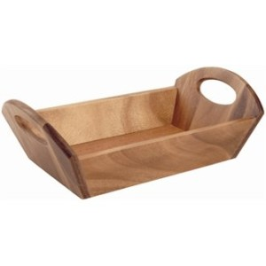 Bread Basket Acacia Wood