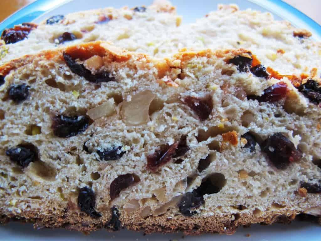 Stollen Slice Close Up