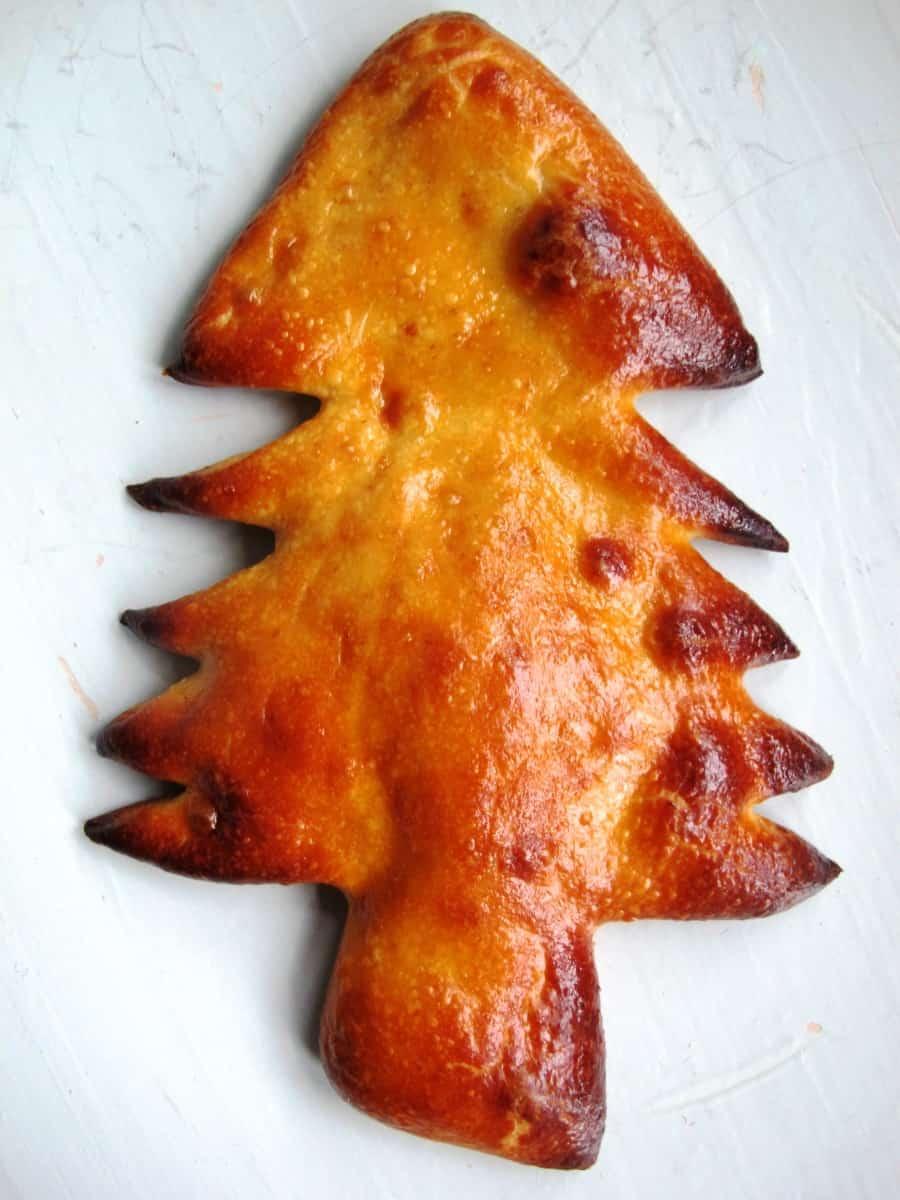 Christmas Tree Bread Recipe - TheBreadSheBakes