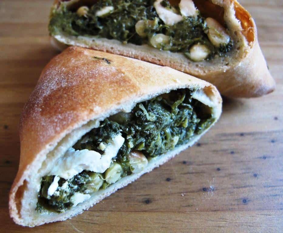 Spinach, feta, pine nut pastries (spanakopita)