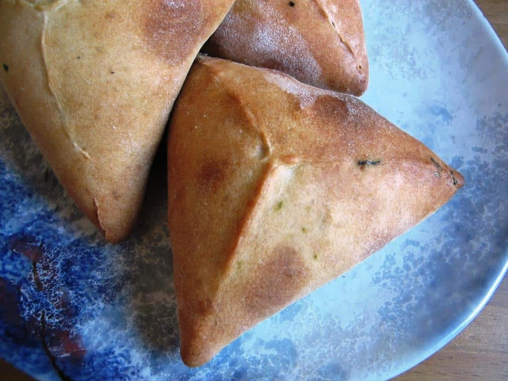 Spinach, feta, pine nut and dill pastries (spanakopita)