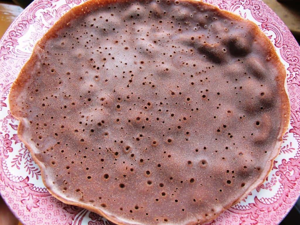 Injera with dark teff flour
