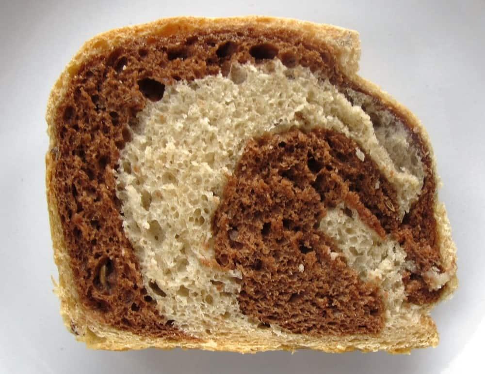 Jewish Marbled Rye Bread Recipe - TheBreadSheBakes