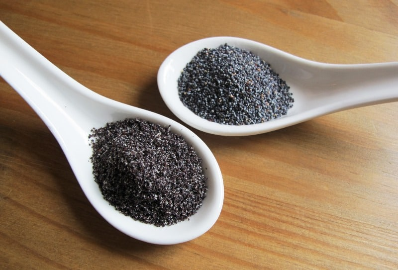 Poppy seeds ground and whole