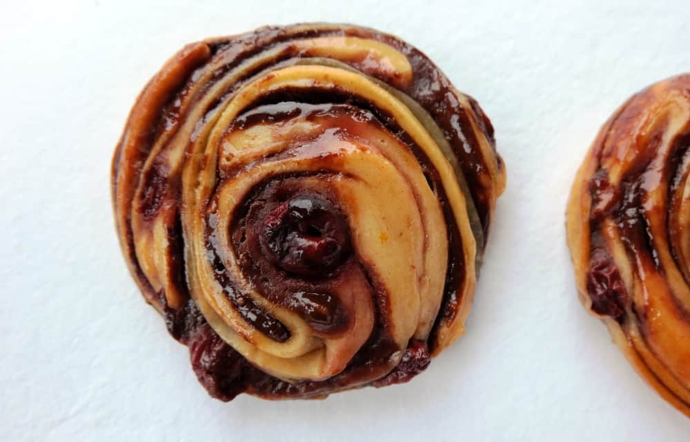 Chocolate cherry swirls