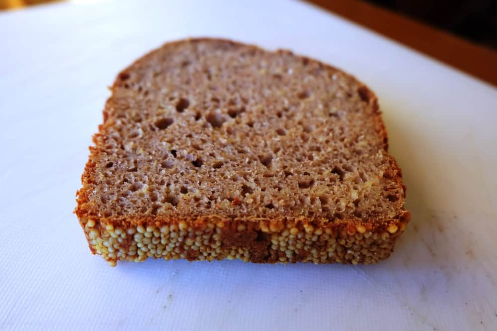 Millet bread slice