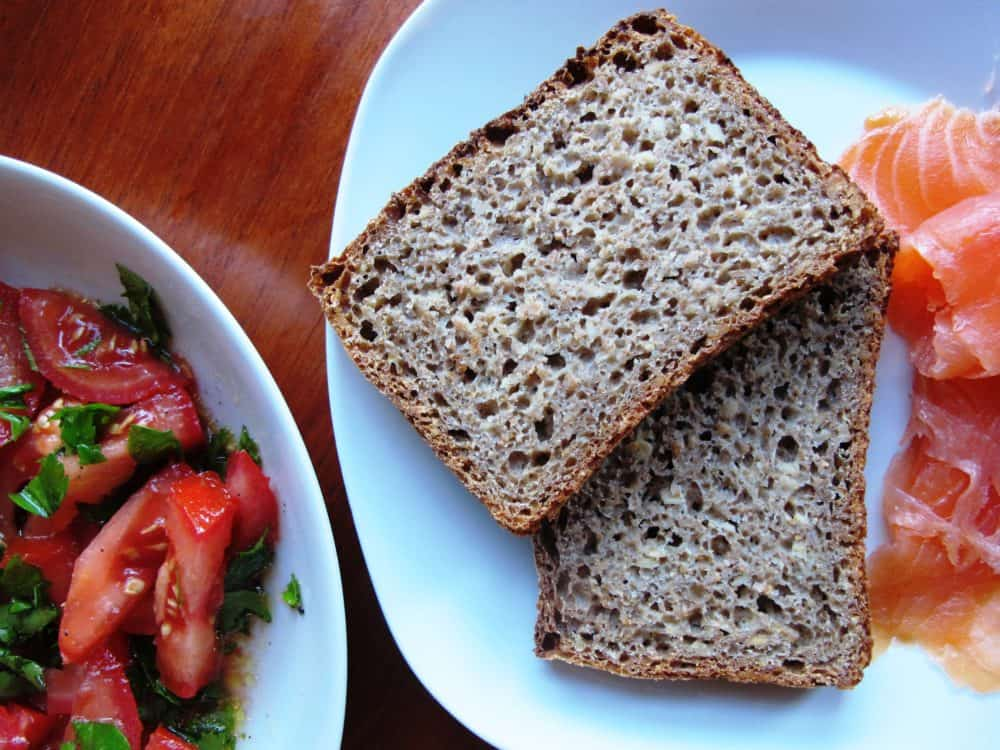German sunflower seed sourdough bread