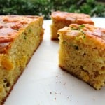 Savoury cornbread with sweetcorn, onion, chili and cheddar