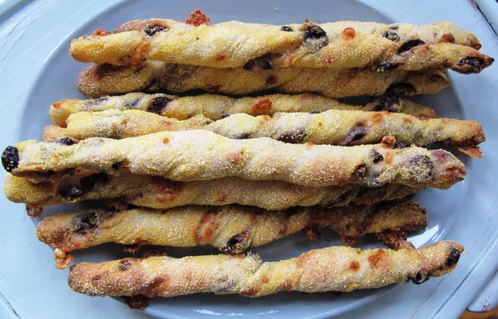 Bread sticks on a plate