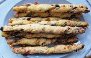 Bread sticks on a plate