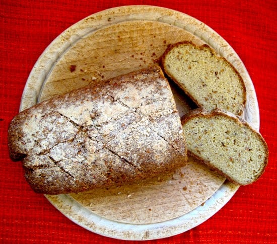 Gluten-free buckwheat & linseed bread