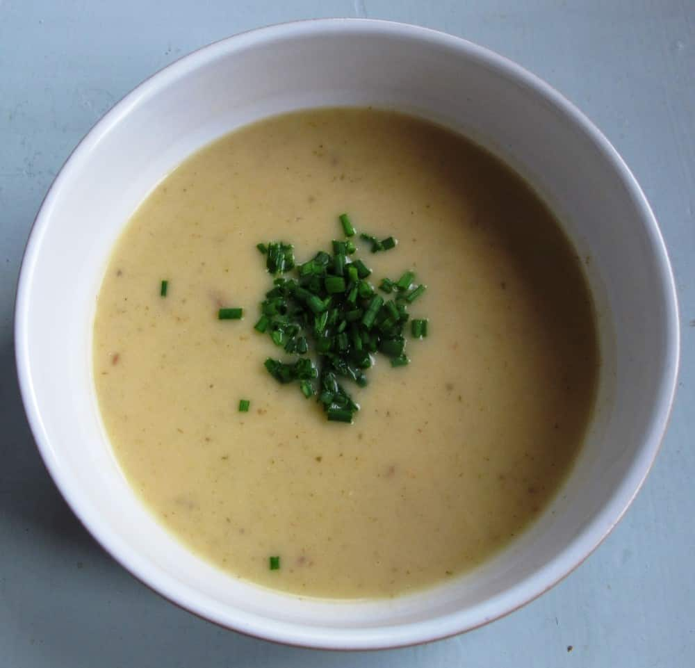 Austrian Potato Soup with Sour Cream