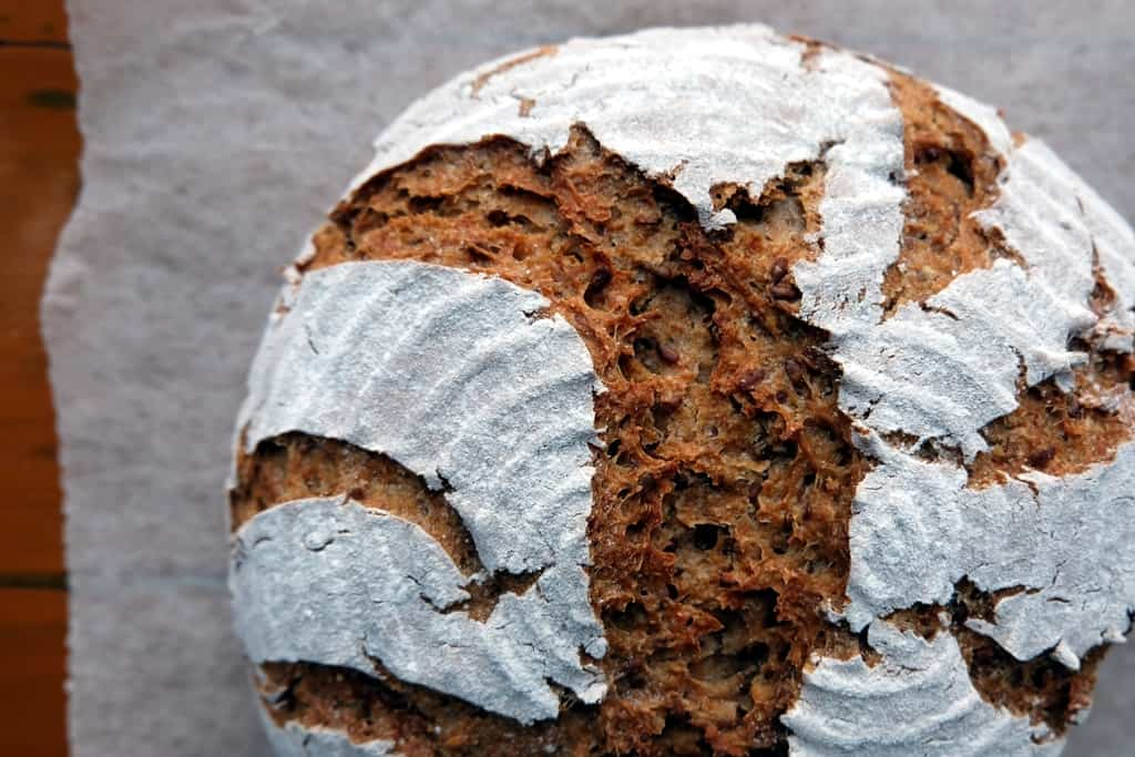 Flaxseed bread recipe with whole wheat