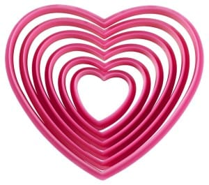 Heart Shaped Cookie Cutter Set