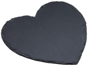 Heart Shaped Slate Serving Platter