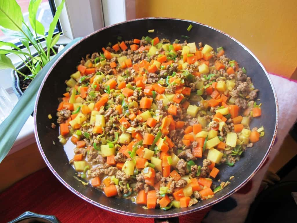 Beef & Veggie Filling for Pattis Sri Lankan Short Eats