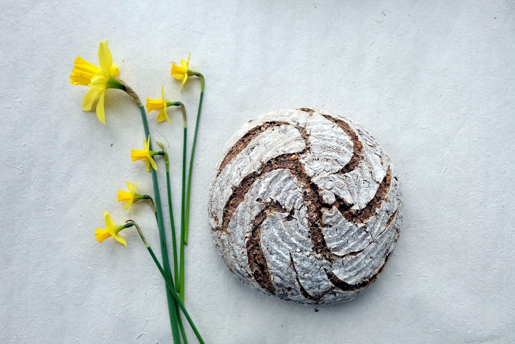 Multi-seed sourdough bread