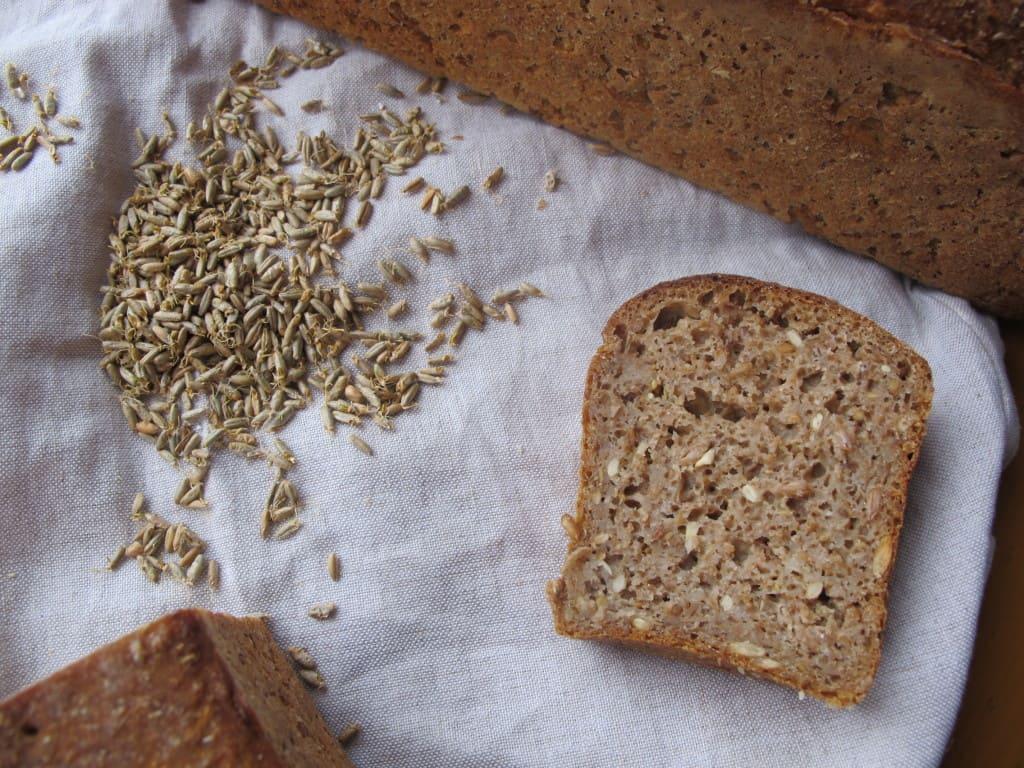 Malted rye slice