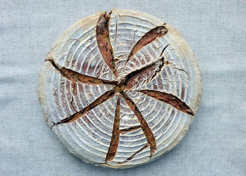 Buckwheat flour sourdough bread