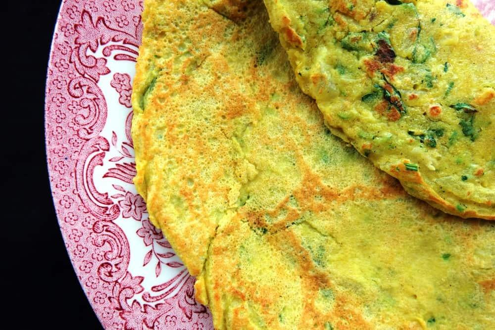 Sorghum flour savoury pancake