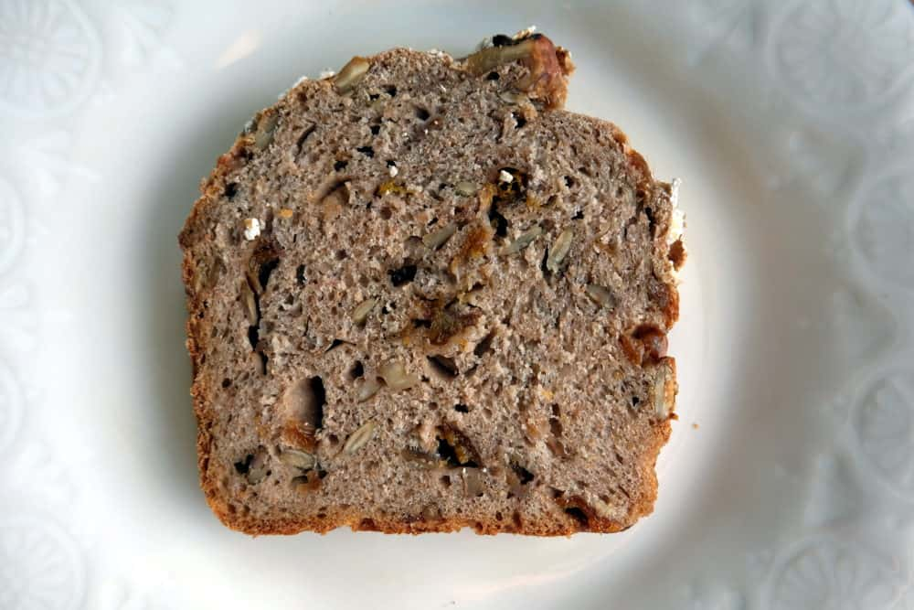 Dried apricot bread with walnuts