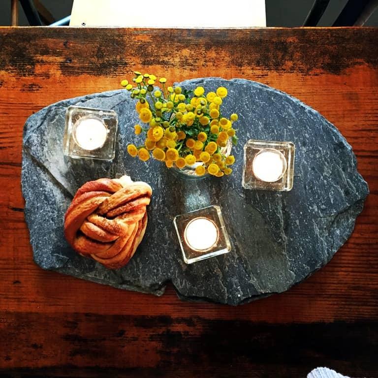 Kanelboller baked at Lustrabui Bakery. Dampskipskaien, Sogndal