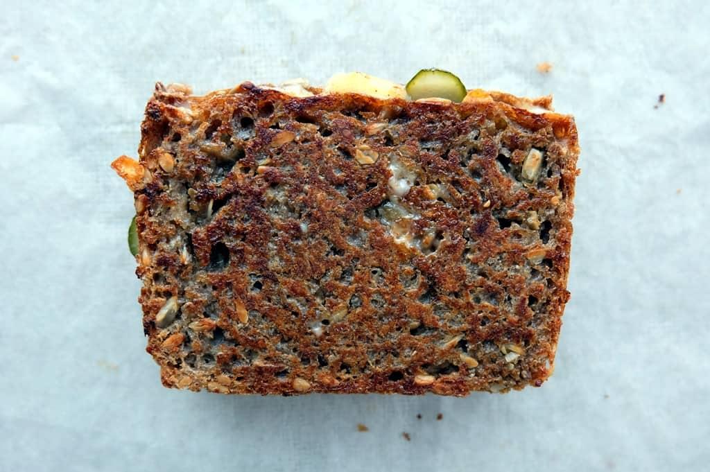 Rye bread cheese toastie