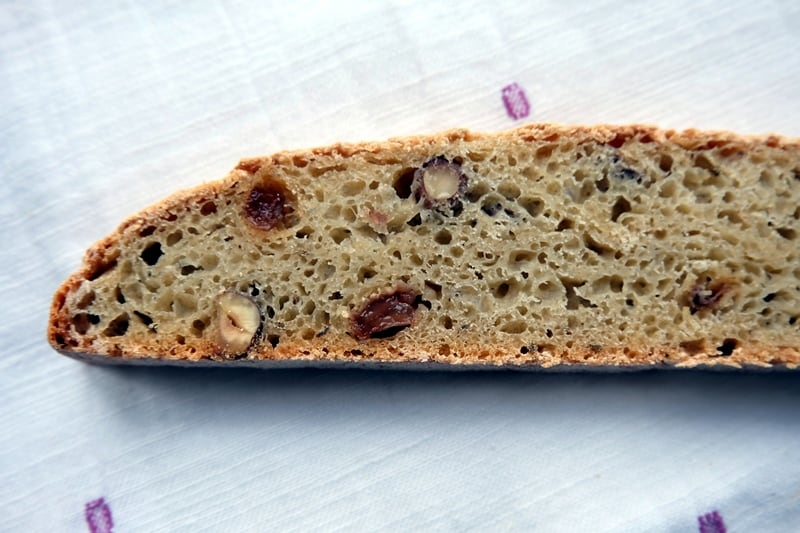 Fennel seed bread slice