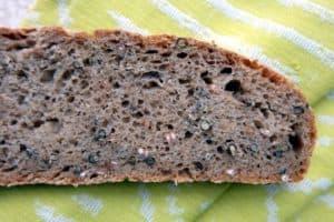Hemp seed sourdough bread