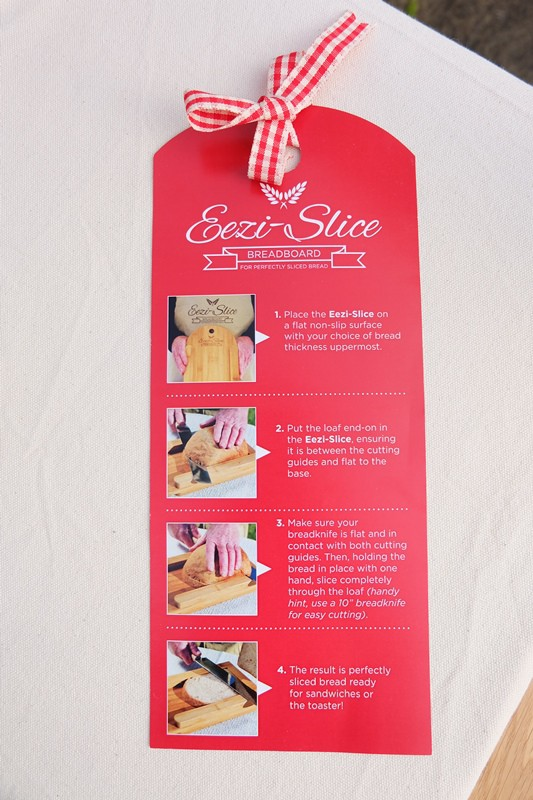 Eezi-Slice Bread Board Instructions
