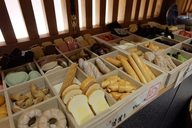 Mini plastic bread in Japan