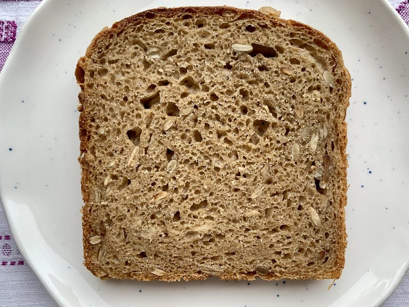 Protein rich sourdough bread